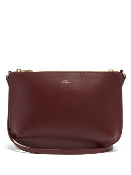 A.P.C. A.p.c. - Sarah Leather Cross-body Bag - Womens - Burgundy