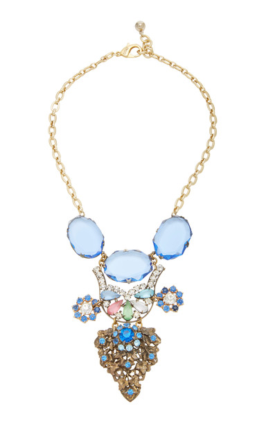 Lulu Frost One-Of-A-Kind Gold-Plated, Crystal, And Glass Necklace