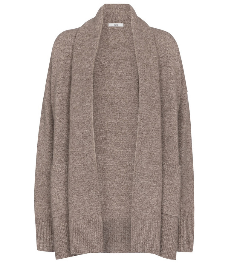 Co Oversized cashmere cardigan in brown