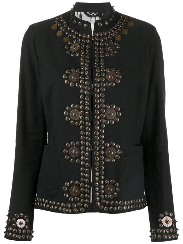 Bazar Deluxe stud embellished jacket in black