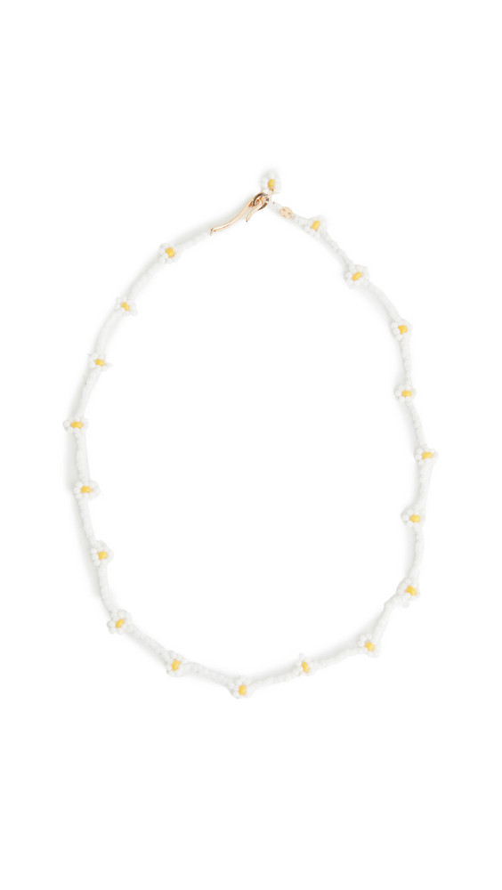 Roxanne Assoulin Daisy Necklace in white