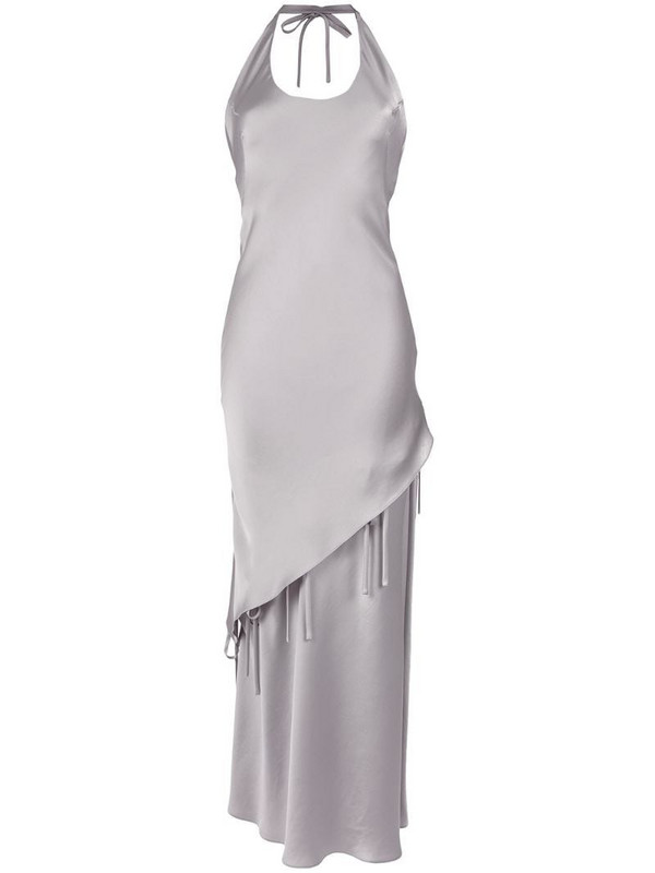 Gloria Coelho halterneck gown in metallic