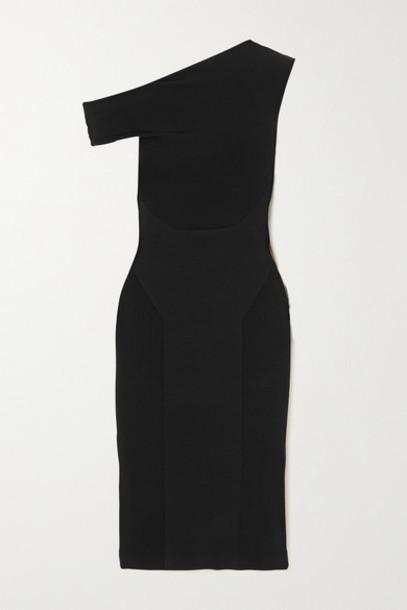 AZ Factory - Mybody One-shoulder Knitted Midi Dress - Black