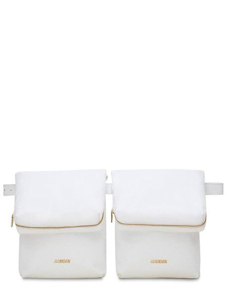 JACQUEMUS La Ceinture Banan Leather Belt Bag in white