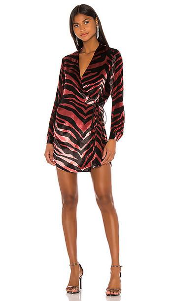 Michelle Mason Jacket Dress in Mauve,Black