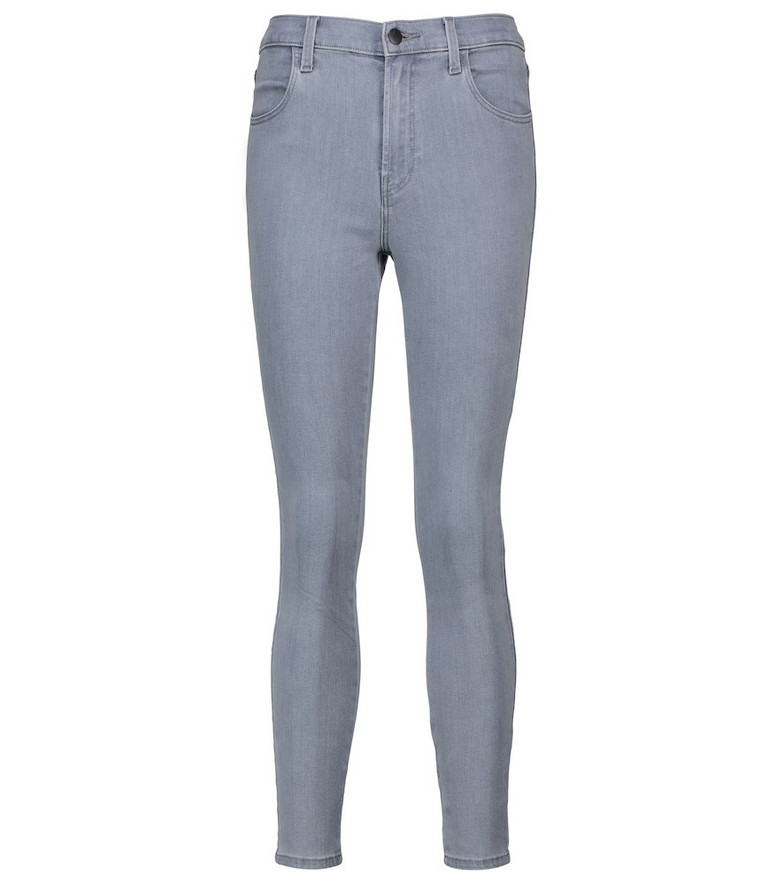 J Brand Alana high-rise cropped jeans in grey