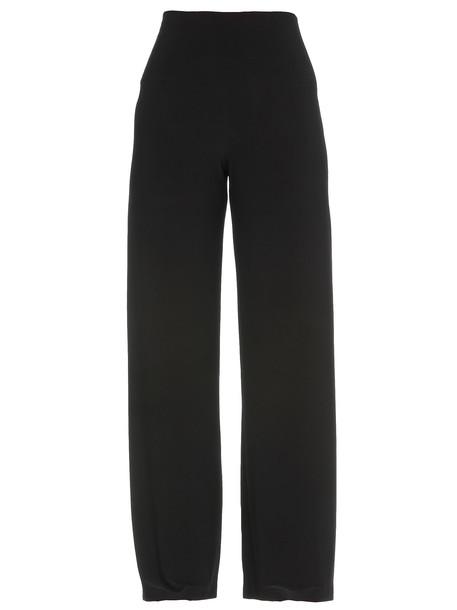 Norma Kamali Palazzo Trousers in black
