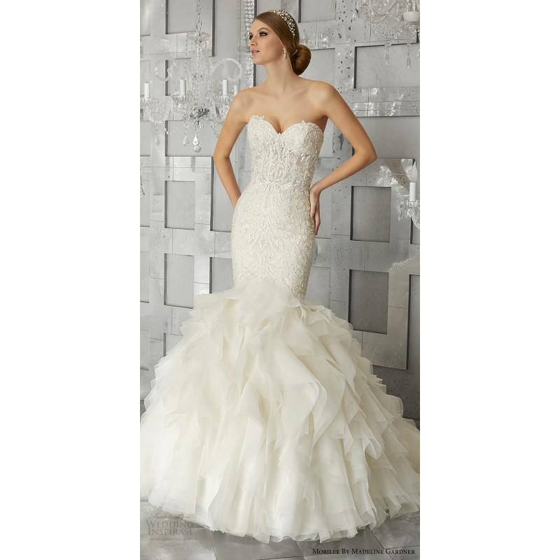 Morilee by Madeline Gardner 8177 Fall/Winter 2017 Muse Wedding Dress Sweetheart Sweet Chapel Train Fall Wedding Dress - Customize Your Prom Dress