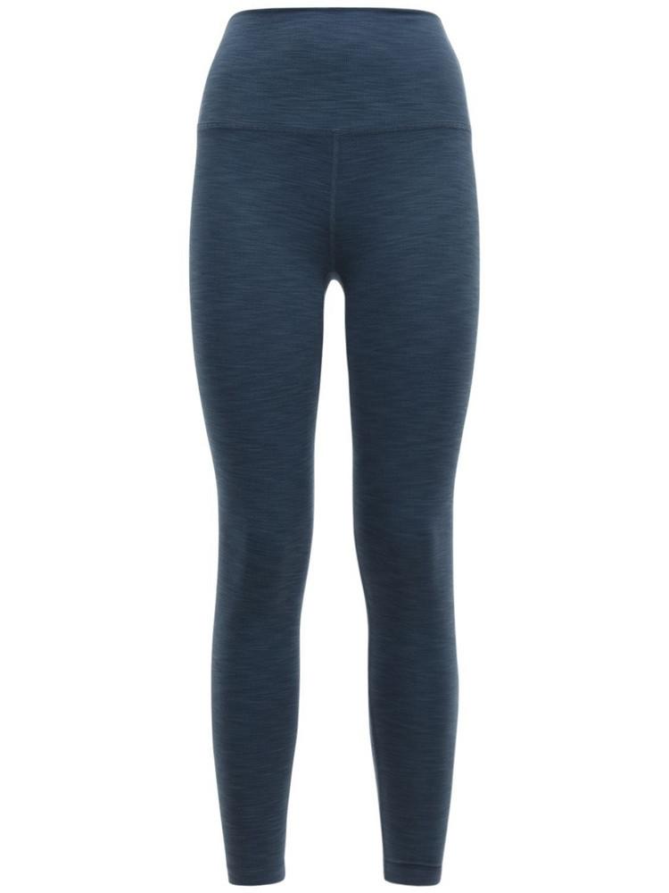 BEYOND YOGA High Waist Rib Midi Leggings in blue