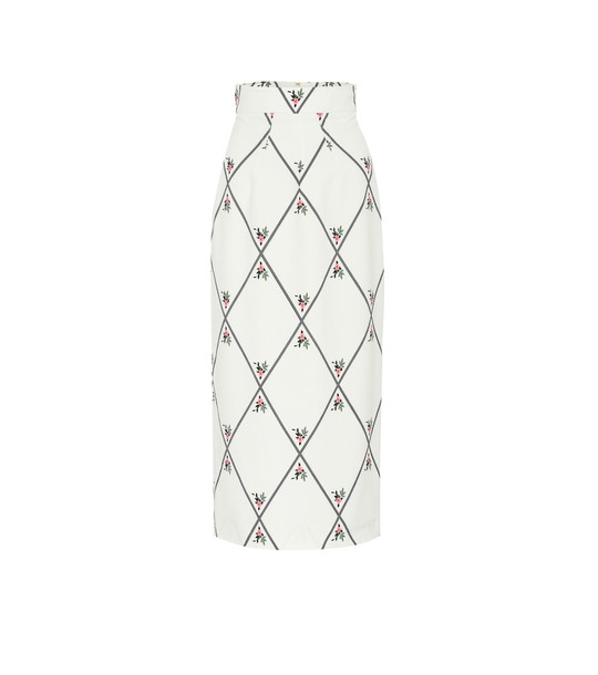 Emilia Wickstead Lorinda georgette pencil skirt in white