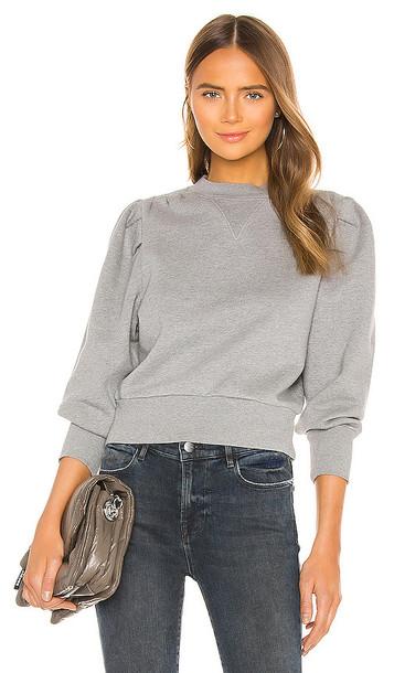 FRAME Shirred Sweatshirt in Grey