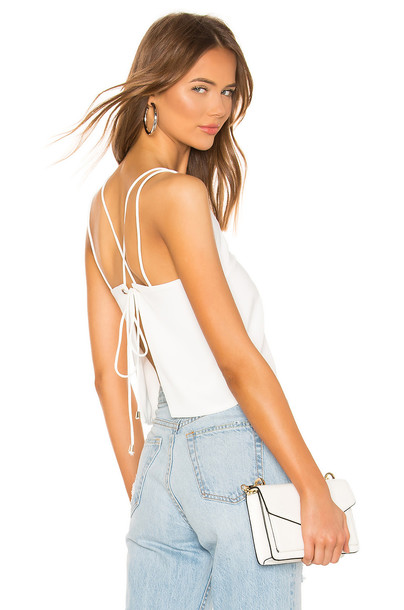 superdown Sandy Backless Top in white