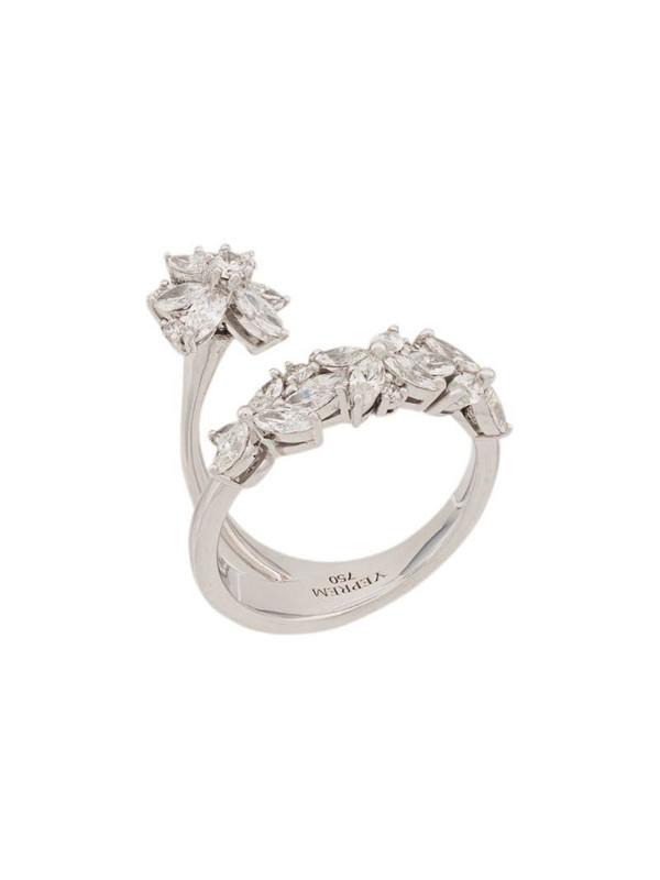 Yeprem twist effect ring in gold / white