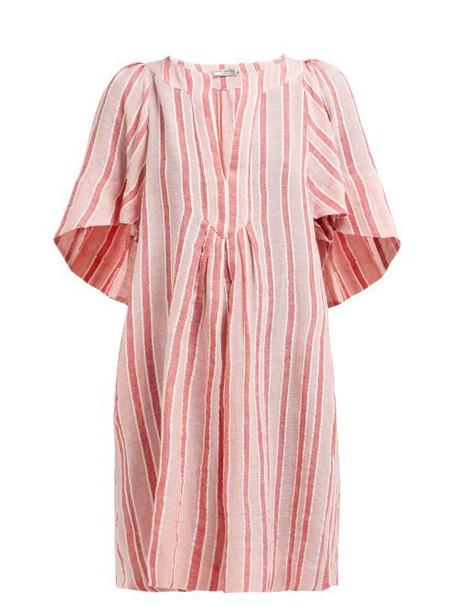 Three Graces London - Prudence Striped Linen Blend Dress - Womens - Pink Stripe