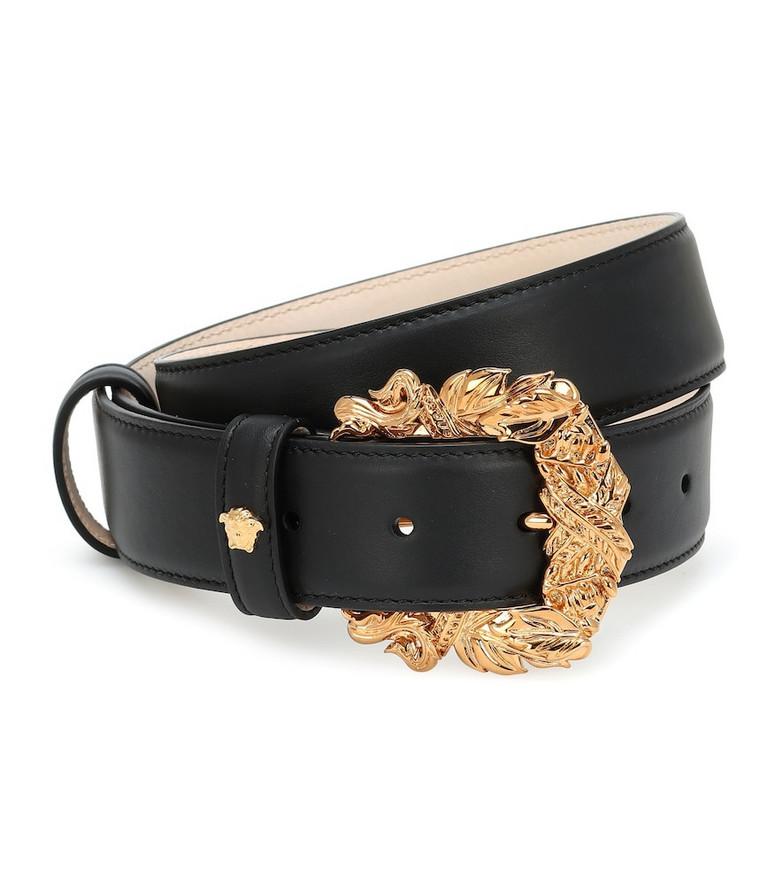 Versace Tribute leather belt in black
