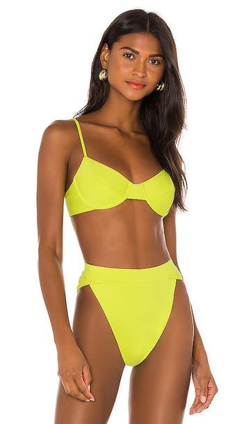 Riot Swim Jax Bikini Top in Yellow