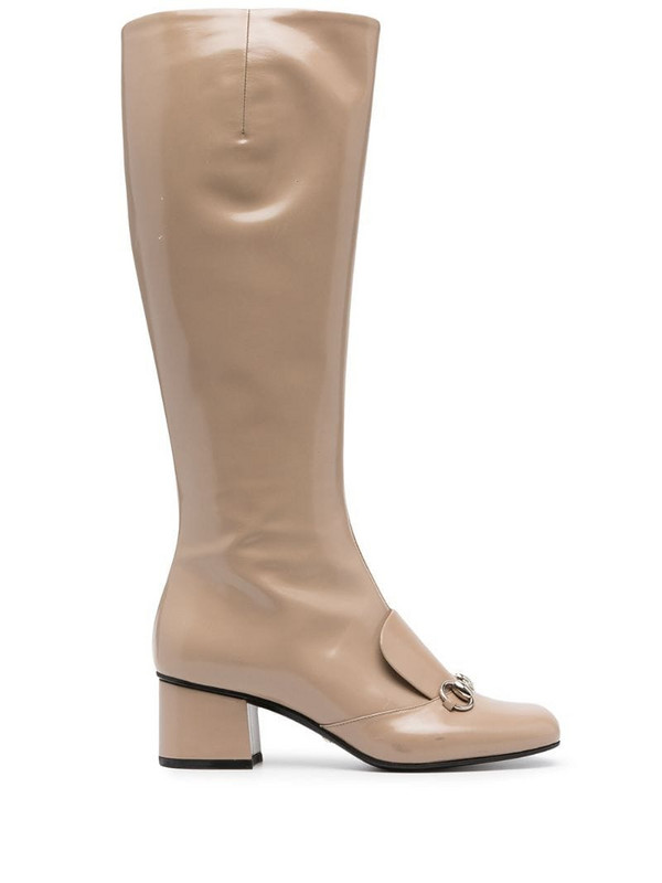 Gucci Pre-Owned horsebit detail boots in neutrals