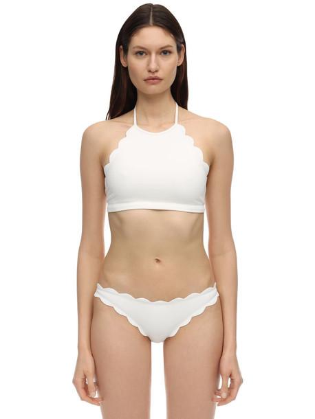MARYSIA Mott Halter Neck Bikini Top in white