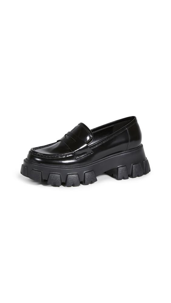 Villa Rouge Phoebe Lug Sole Loafers in black