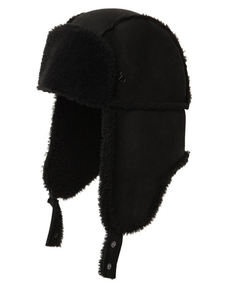 MAISON MICHEL Bibiana Shearling Hat in black