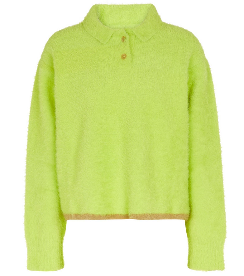 Jacquemus Le Polo Neve polo sweater in green