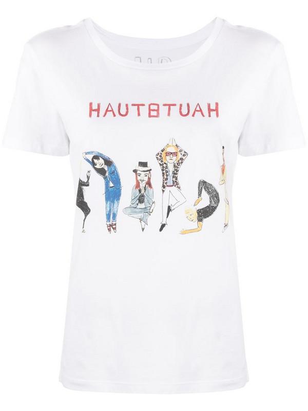 Unfortunate Portrait Haute Yoga-print cotton T-shirt in white