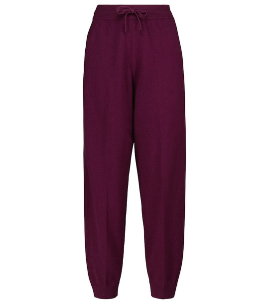 Isabel Marant, Étoile Kira wool and cotton-blend sweatpants in red