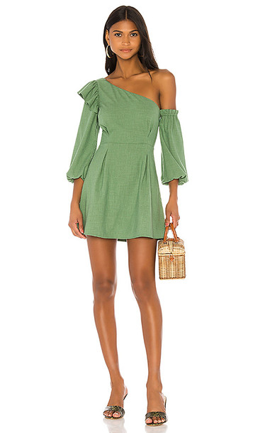 MAJORELLE Jennie Mini Dress In Green in Green