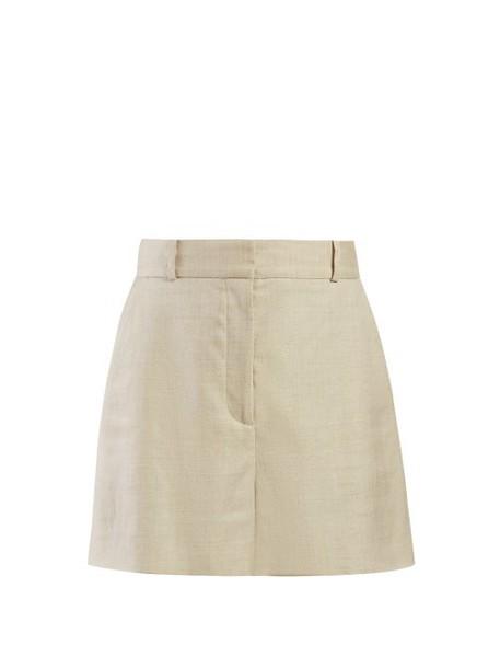 Stella Mccartney - Tailored Canvas Shorts - Womens - Beige