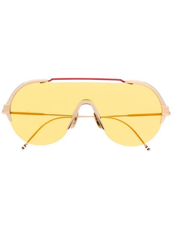 Thom Browne Eyewear aviator shaped sunglasses in gold