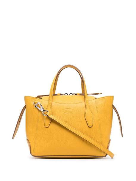 Tod's mini embossed logo tote bag in yellow