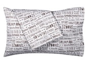 home accessory,pillow,quote on it pillow,white,brown,quote on it,writing,sleep