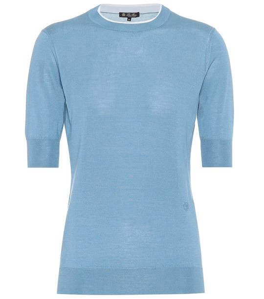 Loro Piana Cashmere and silk sweater in blue