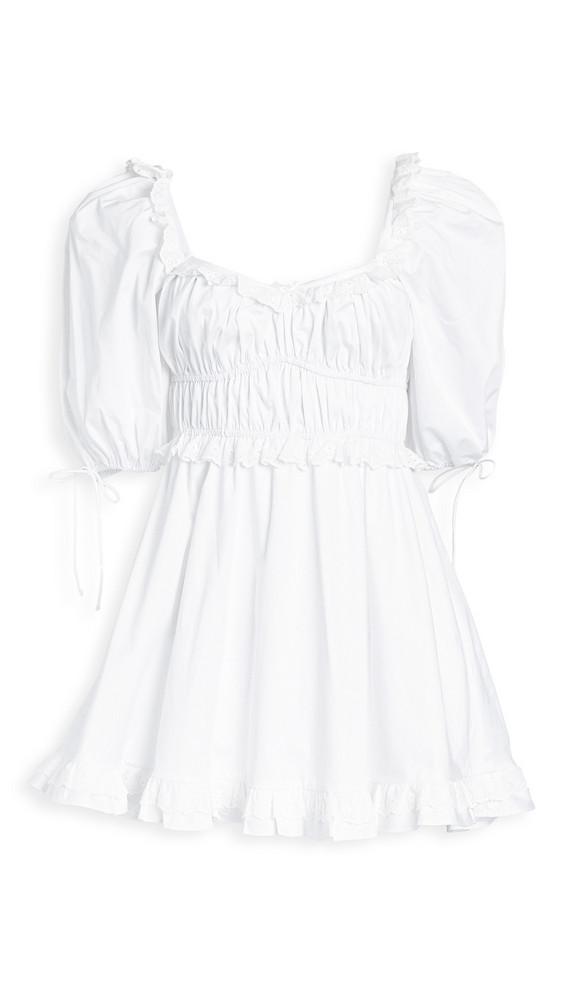 For Love & Lemons Jackson Mini Dress in ivory