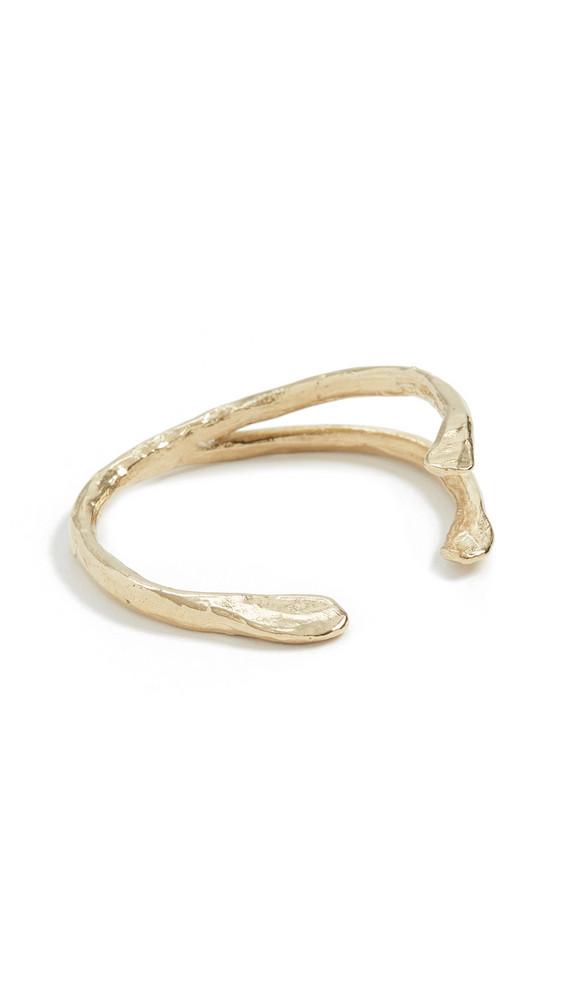 Maison Monik Jonc Wishbone Bracelet in gold