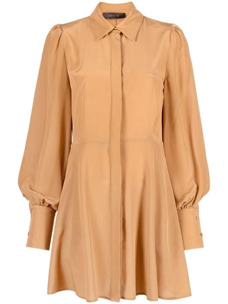 Federica Tosi mini shirtdress in brown