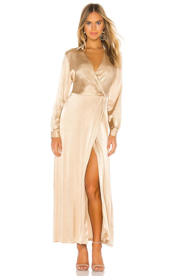 Donna Mizani Jacks Gown in tan
