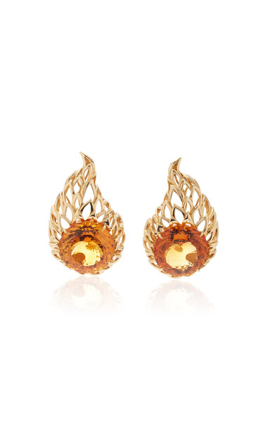 Tony Duquette One of a Kind 18K Yellow Gold and Citrine Earrings