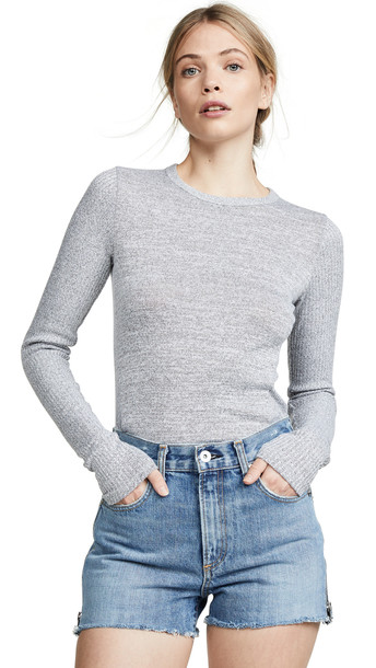Rag & Bone/JEAN Clara Slim Pullover in grey