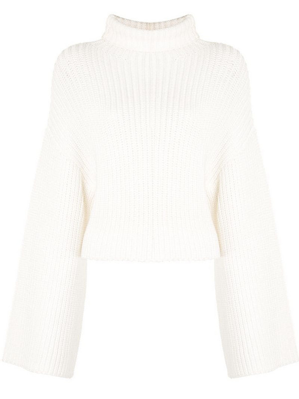 LAPOINTE ribbed-knit turtleneck jumper in white