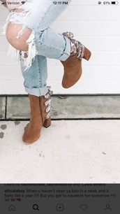 shoes,brown,booties