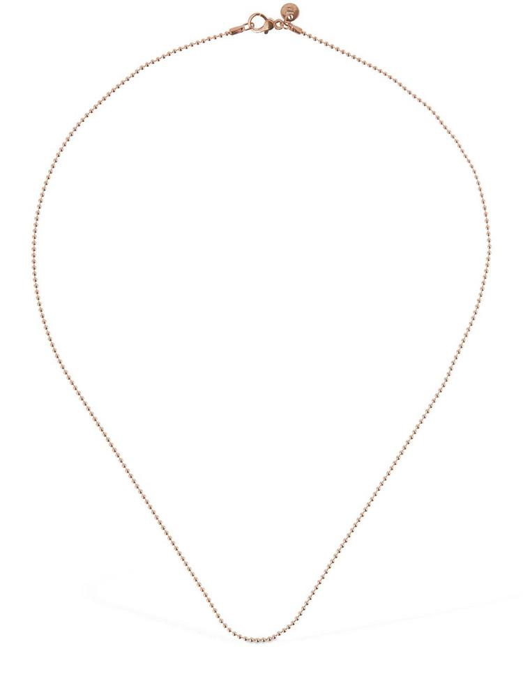 DODO 9kt Rose Gold Bollicine Chain Necklace
