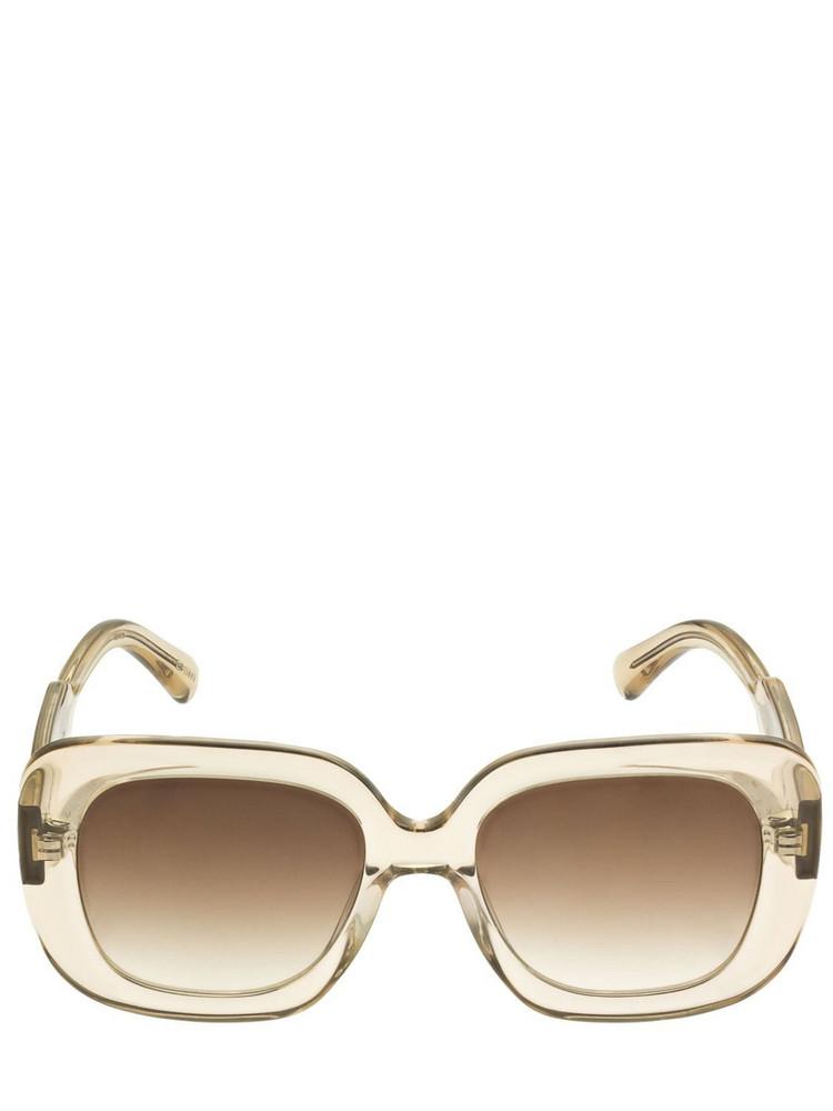 CHIMI 10 Bold Squared Acetate Sunglasses in ecru