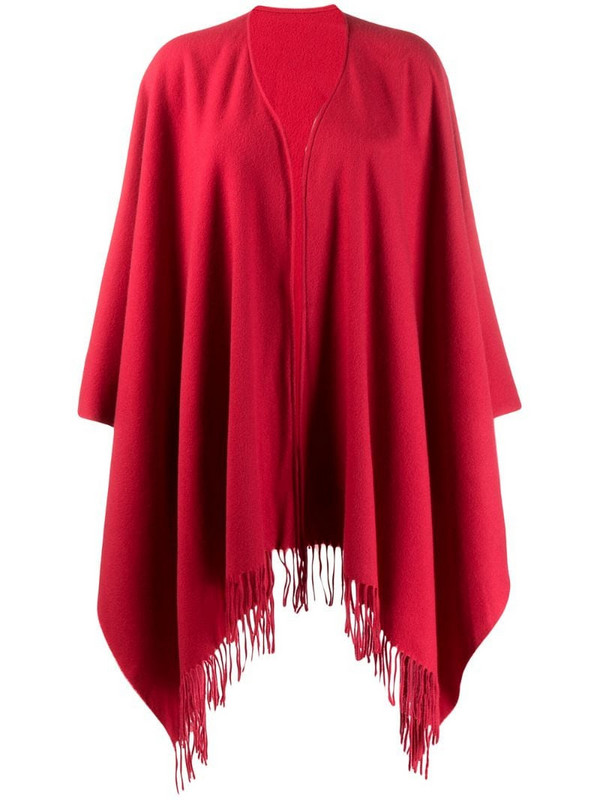 Moschino Pre-Owned 1990s fringed poncho in red