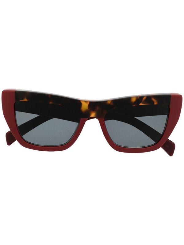 Marni Eyewear colour-block cat-eye sunglasses in red