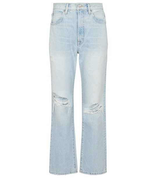 Slvrlake London cropped straight jeans in blue