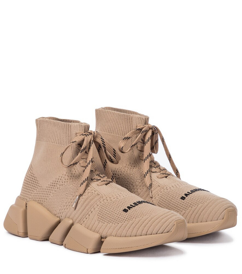 Balenciaga Speed 2.0 lace-up sneakers in beige