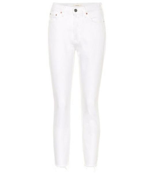 Grlfrnd Karolina mid-rise skinny jeans in white