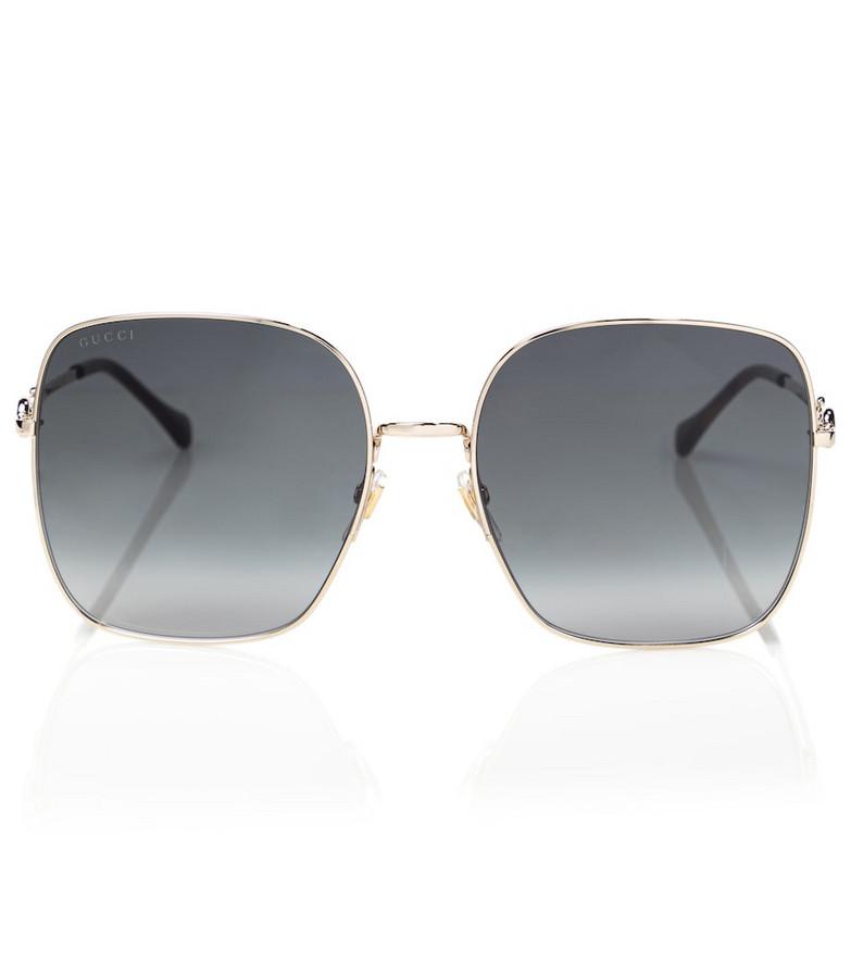 Gucci Square sunglasses in gold