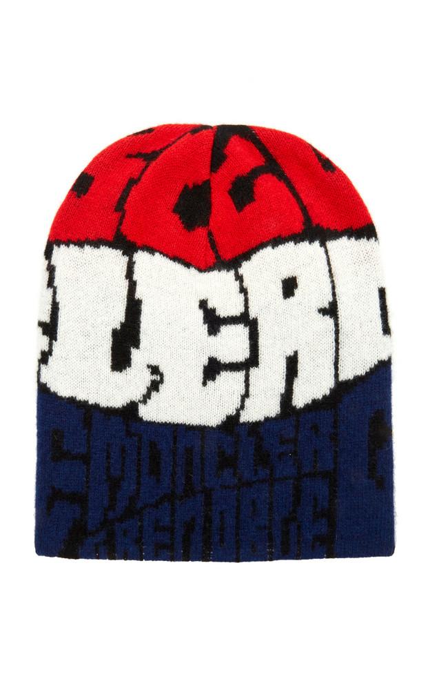 Moncler Genius Grenoble Logo Wool Beanie in multi